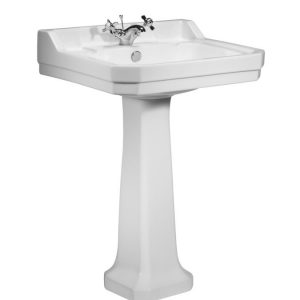 TAVSB850S TAVPE850S Vitoria 605 basin and pedestal 1 tap hole