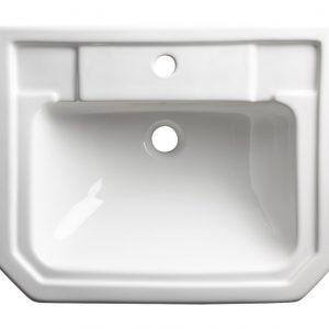 TAVSCSB850S Vitoria semi countertop basin 1 tap holes