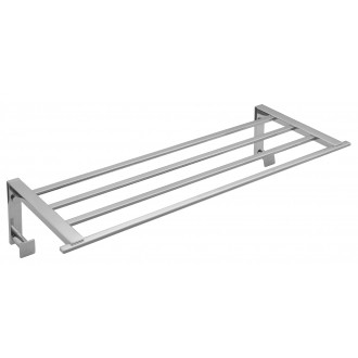 VADO LEVEL TOWEL SHELF WITH ROBE HOOKS 1