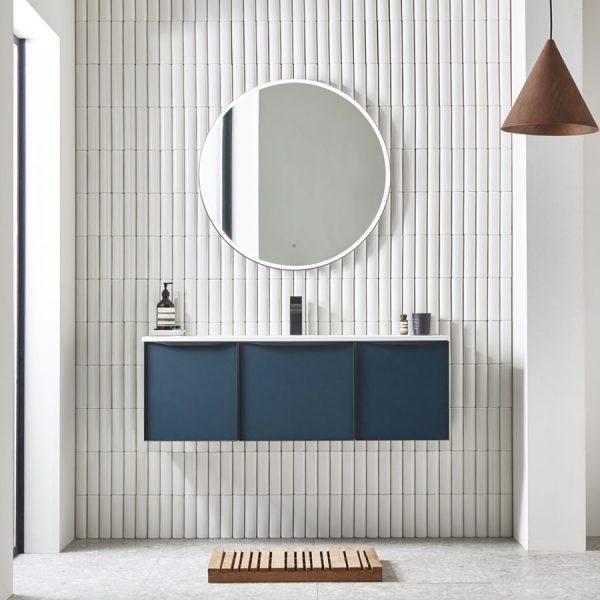 Frame 1200 Derwent Blue with 800 mirror lifestyle