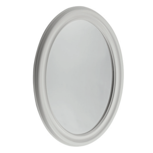 LAURA ASHLEY OVAL MIRROR COTTON WHITE
