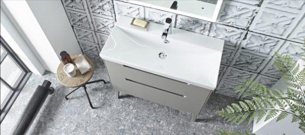 Monograph 800mm light clay drawer unit Lifestyle