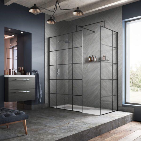 Sorento Wetroom Panel with Flipper