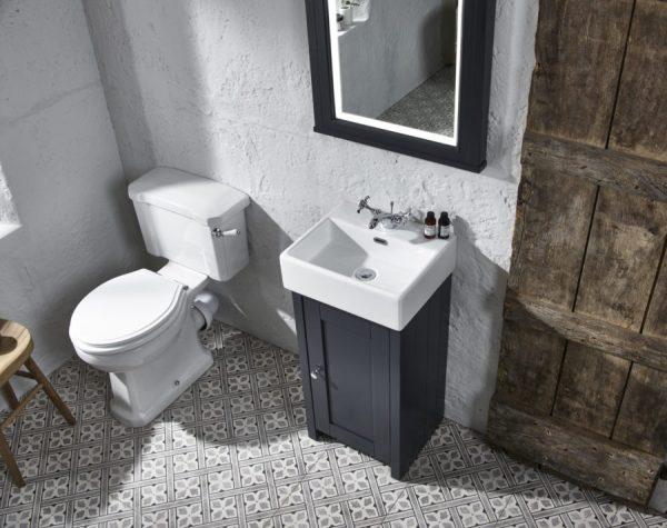 TAVLAN400C.DGM lansdown cloakroom unit mirror dark grey matt 1