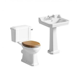 VITRORIA TOILET AND BASIN SET