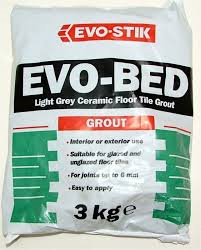 evo bed 3kg grey grout