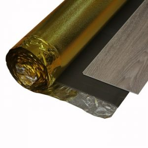 3mm soundproof golden film floor underlay