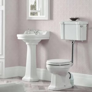 VITOIRA TOILET AND ROUND BASIN SET