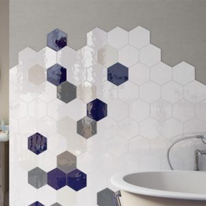 VODEVIL WHITE HEX TILE