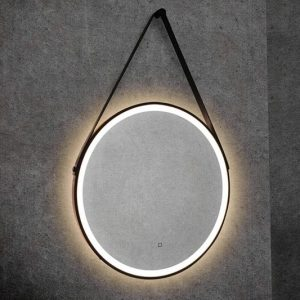 hib solstice 60 round illuminated mirror