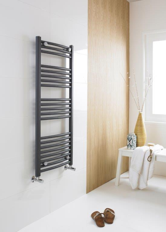 MTY104 Anthracite Curved Ladder Rail
