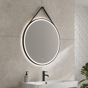 hib solstice 80 round illuminated mirror