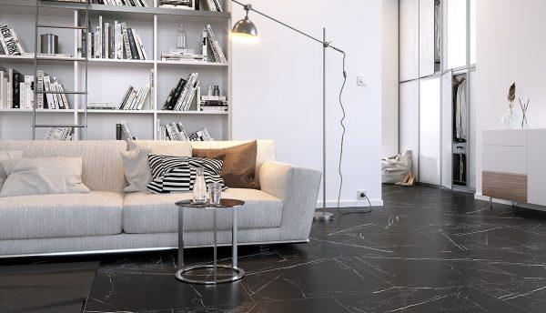 marqiuna black porcelain tiles image