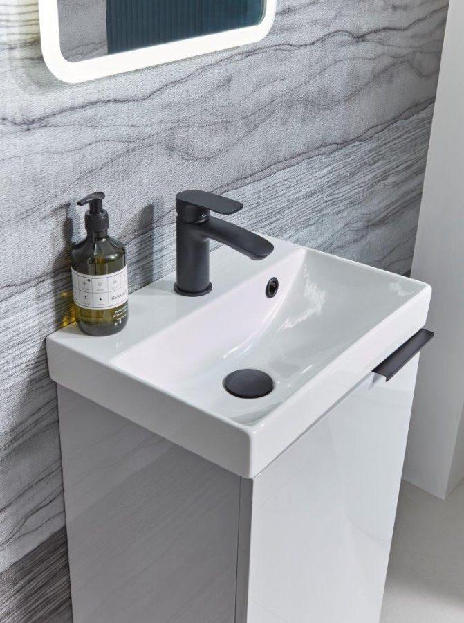 Cadence 400mm cloakroom white finish unit lifestyle copy