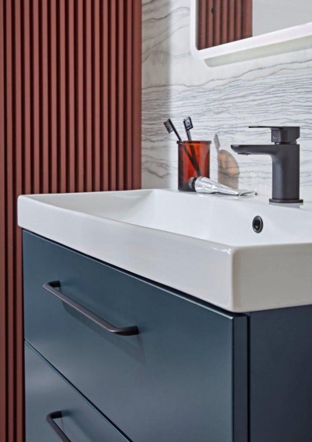 Cadence 800mm unit oxford blue with ceramic basin lifestyle copy